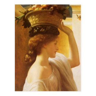 Eucharis - Mädchen mit einem Korb der Frucht durch Postkarte