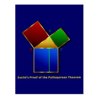 Euclids Beweis des pythagoräischen Theorems Postkarte