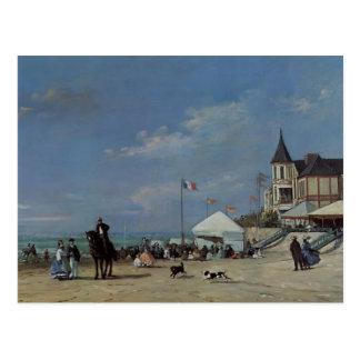 Eugene Boudin- der Strand bei Trouville Postkarte