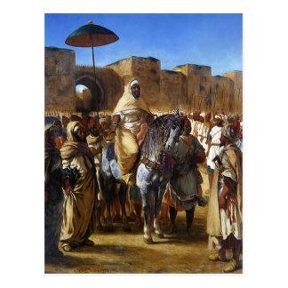 Eugene Delacroix- der Sultan von Marokkoverlassen Postkarte