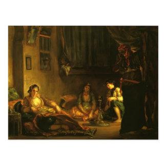 Eugene Delacroix- Frauen von Algier in der Wohnung Postkarte