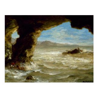 Eugene Delacroix - Schiffbruch auf der Küste Postkarte
