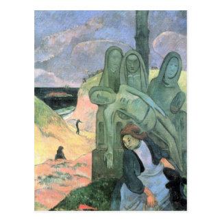 Eugène Henri Paul Gauguin - grüner Christus Postkarte