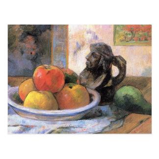 Eugène Henri Paul Gauguin - Stillleben mit Äpfeln Postkarte