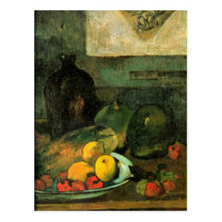 Eugène Henri Paul Gauguin - Stillleben vor Postkarte