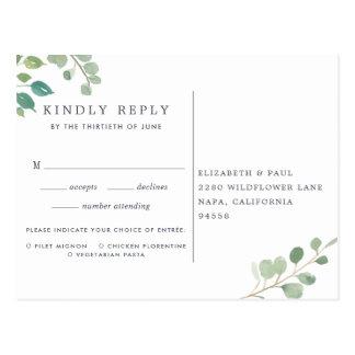 Eukalyptus UAWG Postkarte mit Mahlzeit-Wahl