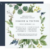 Eukalyptus-Waldungs-Proben-Abendessen-Einladung