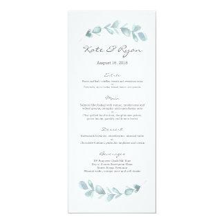 Eukalyptusgarten Hochzeits-Menü-Karte Karte