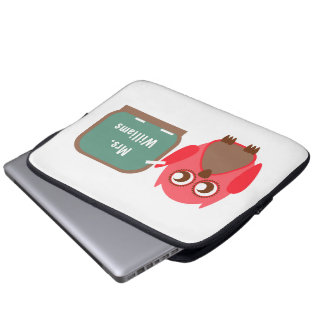 Eule an der Tafel-Elektronik-Tasche für Lehrer Computer Sleeve Schutzhülle