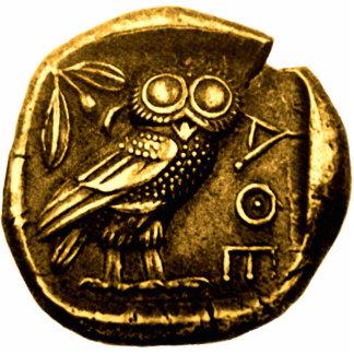 Eule auf altgriechischer Münze Photo Skulptur
