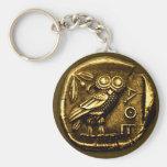 Eule auf altgriechischer Münze Schlüsselanhänger