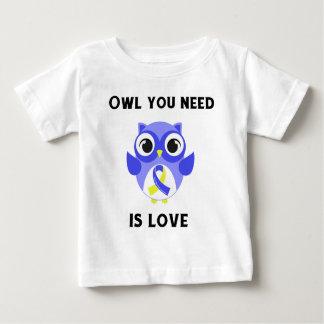Eule, die Sie benötigen, ist Liebe, Down-Syndrom Baby T-shirt
