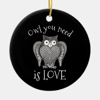 Eule, die Sie benötigen Keramik Ornament