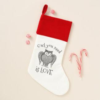 Eule, die Sie benötigen Weihnachtsstrumpf