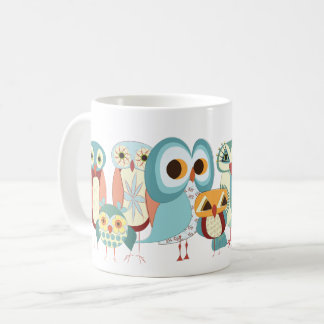 Eule-ein-Tägige Retro Eulen-Tasse Kaffeetasse