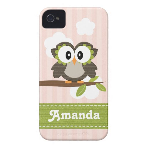 Eule iPhone Abdeckungs-Rosa Case-Mate-4/4s iPhone 4 Cover