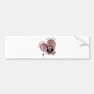 Eule ist Ihre, Valentinsgruß-Gruß-Karte Autoaufkleber