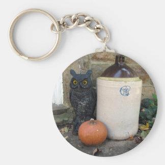 Eule, Krug u. Kürbis Halloween Keychain Schlüsselanhänger