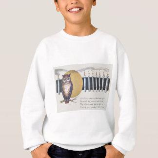 Eule leuchtet Vollmond Vintages Halloween durch Sweatshirt