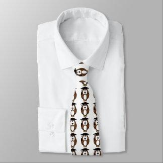 Eule mit Abschluss-Kappen-Hals-Krawatte Personalisierte Krawatten