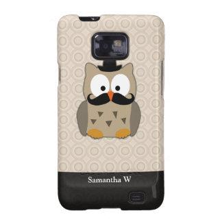 Eule mit dem Schnurrbart und Hut Samsung Galaxy S2 Cover