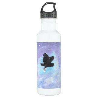 Eule mit Post-Wasser-Flasche Edelstahlflasche