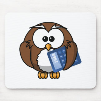 Eule mit Taschenrechner, Mathe, Student, Mousepad