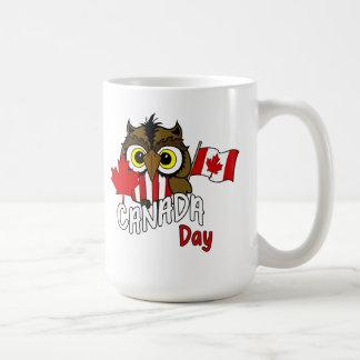 Eule sehen Sie Kanada-TagesTasse Kaffeetasse