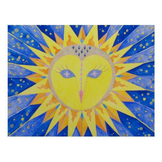 Eule Sunowl Postkarte