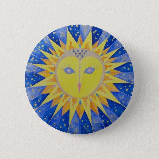 Eule Sunowl Runder Button 5,1 Cm