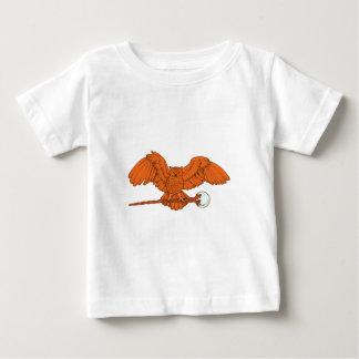 Eule Zauberstab owl magic wand Baby T-shirt