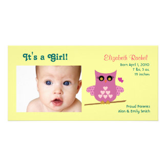 Eulen-Baby-Mitteilungs-Foto-Karten Individuelle Photo Karte