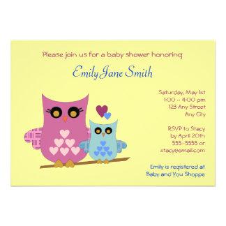 Eulen-Babyparty-Einladung