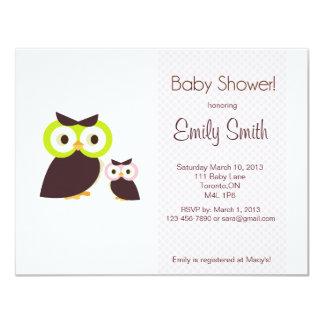 Eulen-Babyparty-Einladung 10,8 X 14 Cm Einladungskarte