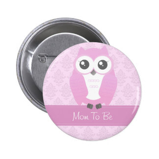 Eulen-Babyparty-Knopf-Rosa Buttons