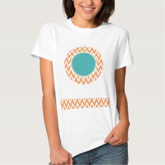 Eulen-Babyparty; Orange und weißes Zickzack Hemden