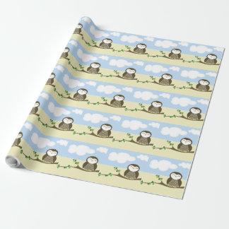 Eulen-Babyparty-Packpapier Geschenkpapier