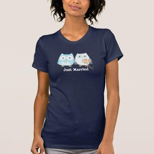 Eulen Braut und Bräutigam-Entwurf mit kundenspezif Hemden