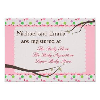 Eulen-Familien-Babyparty-Register-Karte 8,9 X 12,7 Cm Einladungskarte