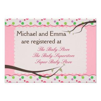 Eulen-Familien-Babyparty-Register-Karte Personalisierte Einladungskarten