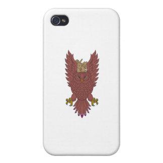 Eulen-Flügel verbreitetes Swooping iPhone 4 Schutzhülle