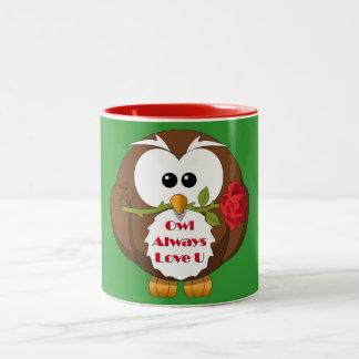 Eulen-immer Liebe Sie Thema Teetassen