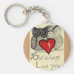 Eulen-immer Liebe Sie… Wunderliches keychain! Schlüsselband