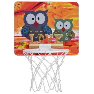 Eulen-Liebe Mini Basketball Ring