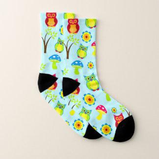 Eulen-Muster-Socken Socken