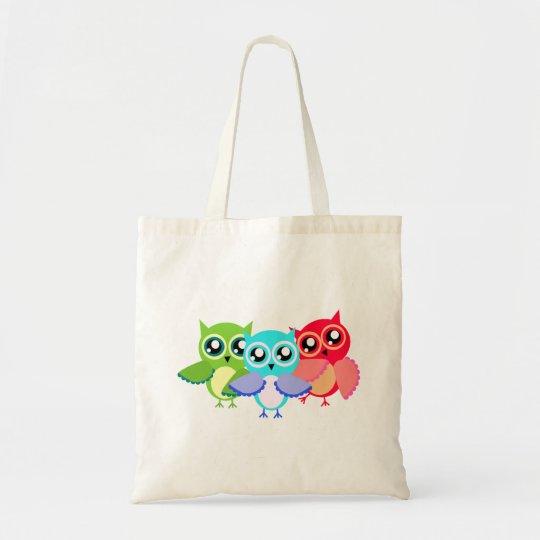 Eulen owls tragetasche