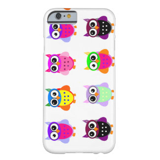 Eulen-Party retro kawaii niedliches buntes Eulen Barely There iPhone 6 Hülle