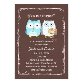 Eulen-Polterabend für Braut und Bräutigam 12,7 X 17,8 Cm Einladungskarte