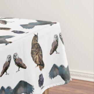 Eulen-Raserei-Tischdecke (wählen Sie Farbe) Tischdecke
