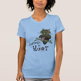 Eulen-strickender T - Shirt